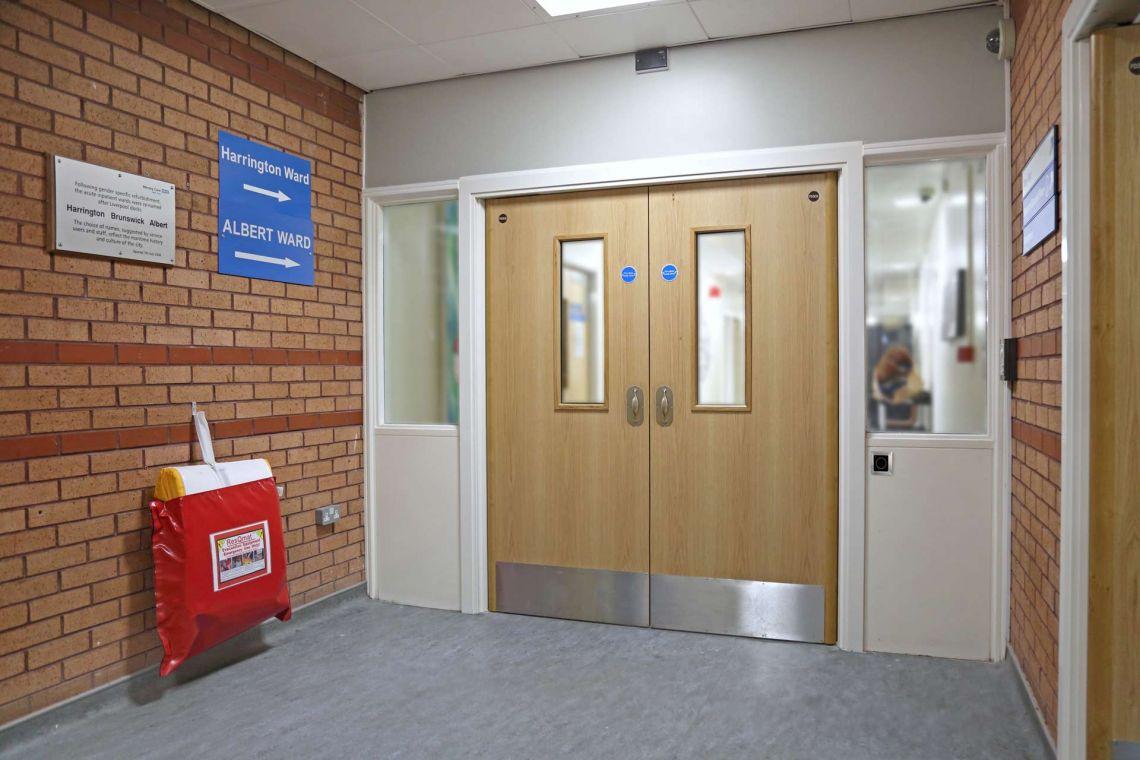 Corridor Doorset For Mental Health Designed With Fire