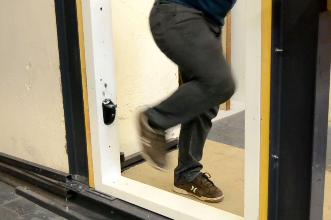 Testing the en-suite door