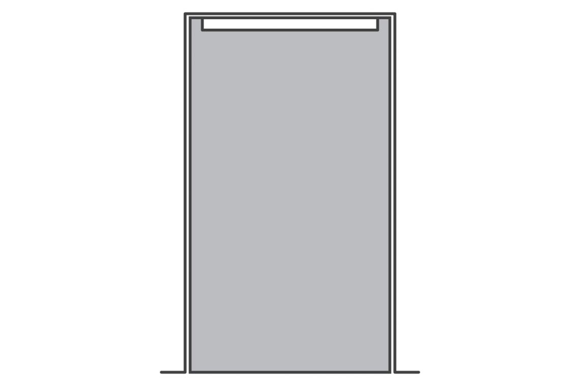 Full door with door-top alarm limitations